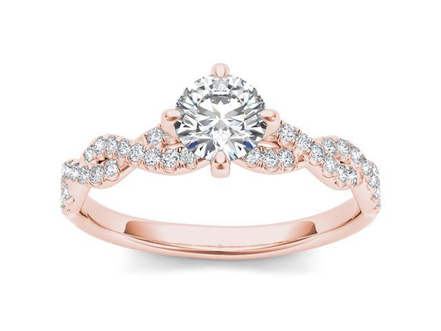 14k Rose Gold 1 1/5ct TDW Diamond Solitaire Engagement Ring (H-I, I2)
