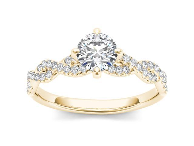 14k Yellow Gold 1 1/5ct TDW Diamond Solitaire Engagement Ring (H-I, I2)
