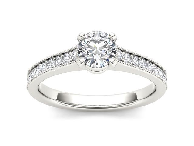 14k White Gold 1 1/5ct TDW Diamond Solitaire Engagement Ring (H-I, I2)