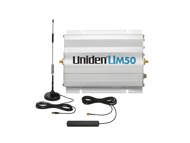 Uniden® UM50 CAR/RV/BOAT 50dB Cellular Signal Booster Kit