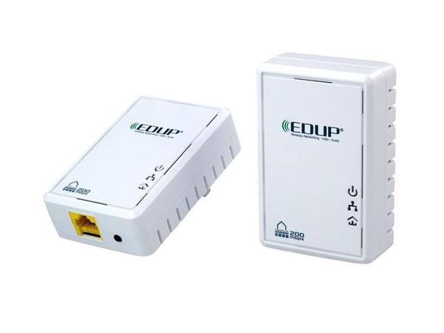 EDUP EP-PLC5513 200Mbps PowerLine Network Electric Power Adapter Link Ethernet Homeplug (White)
