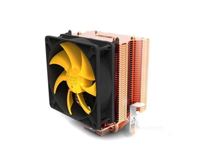 2 Heat Pipes Silent Heatsink CPU Cooler Fan for Intel LGA775/1156/1155 AMD AM2/AM2+/AM3