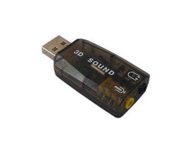 Black Virtual 5.1CH USB External 3D Sound Card Adapter
