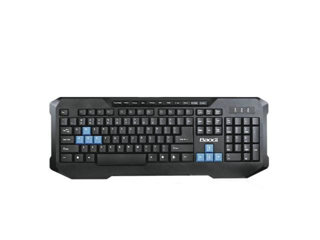 Black Multifunction USB Wired Gaming Keyboard