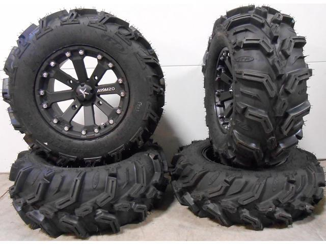 "MSA Black Kore 14"" UTV Wheels 27"" Mud Lite XTR Tires Honda Pioneer - Newegg.com"