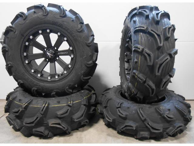"MSA Black Kore 14"" UTV Wheels 28"" Zilla Tires Can-Am Maverick X3 / Honda Pioneer 1000 - Newegg.com"