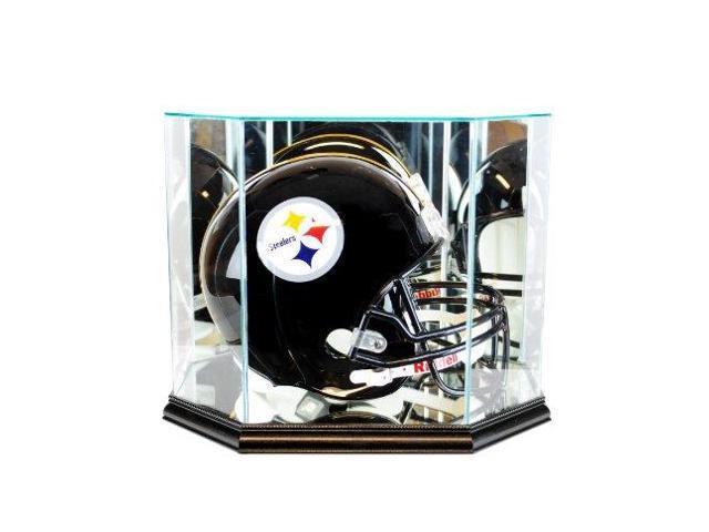 Octagon Full Size Football Helmet Display Case - Black Base