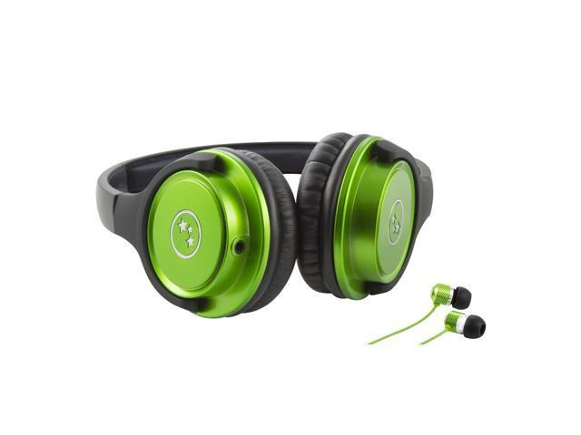 Musicians' Choice® SH180GRM Headphone and n-Ear Earphone SI170GR (Green)