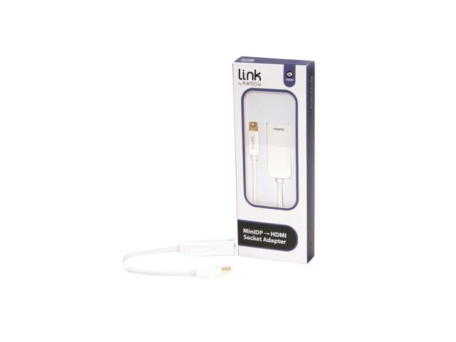 Mini Display Port to HDMI A Socket, Adapter, White
