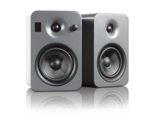 Kanto YUMI Powered Bookshelf Speakers w/Bluetooth 4.0, Matte Gray
