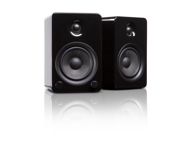 Kanto YU5 Powered Bookshelf Speakers, Gloss Black