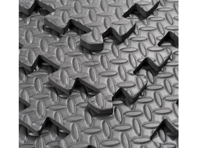 Soozier Black Interlocking Foam Tiles - Set of 6