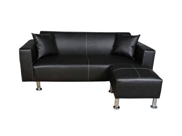 HomCom Loveseat Sofa Set - Black