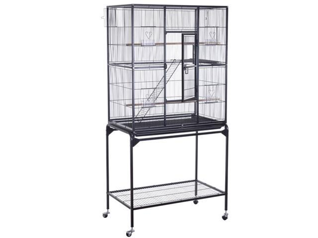 PawHut Large Metal Wire Bird Cage Parrot Decorative House w/ Tray