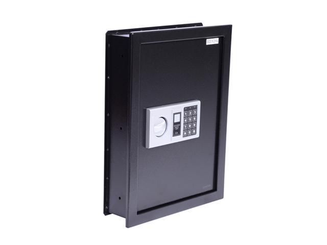 HomCom Digital Wall Safe Box - Black