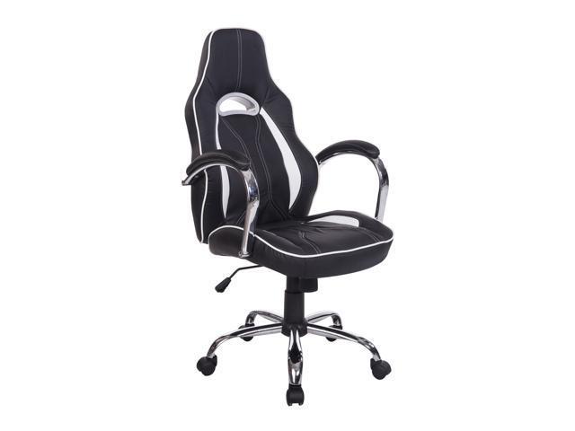 homcom high back executive racing office chair pu leather sw