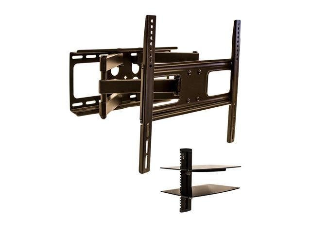 navepoint articulating wall mount bracket with dual arm. Black Bedroom Furniture Sets. Home Design Ideas