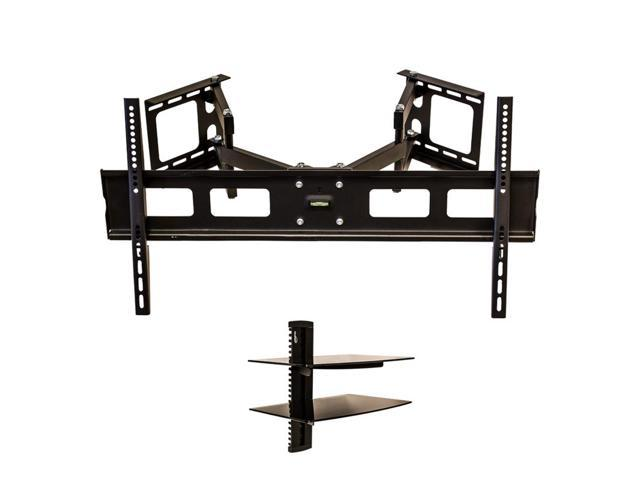 navepoint corner wall mount tv bracket tilting 37 63. Black Bedroom Furniture Sets. Home Design Ideas