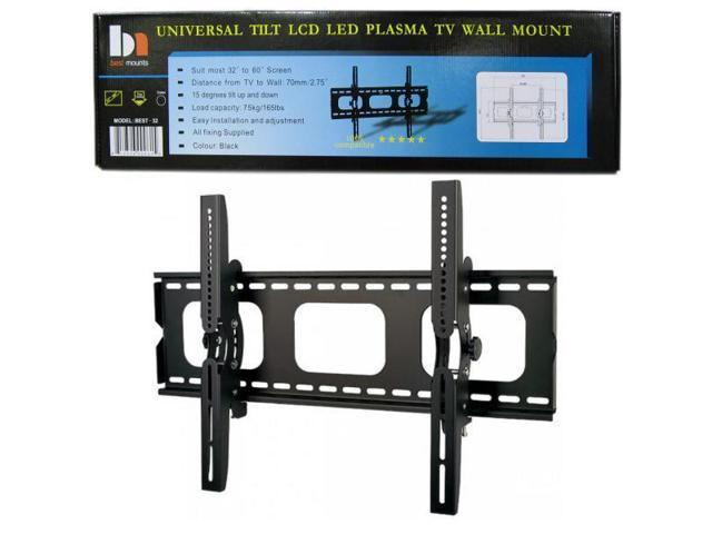 Universal LCD/Plasma TV Wall Mount Bracket - Black - Ultra Slim - Fits 32