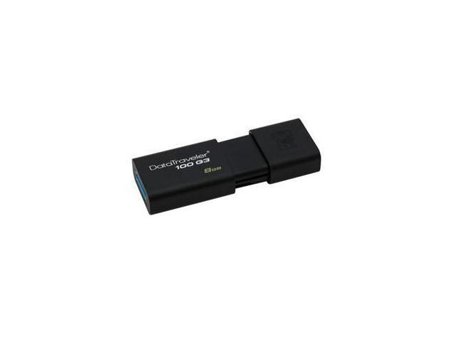 Kingston DataTraveler 100 G3 8GB USB 3.0 Flash Drive DT100G3/8GBCR