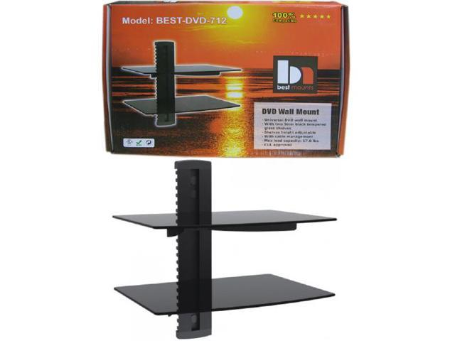 DVD 2-Tier Wall Mount Bracket - Black