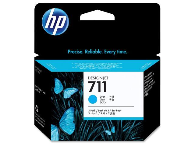 HP 711 (CZ134A) 3-pack Cyan Original Ink Cartridges