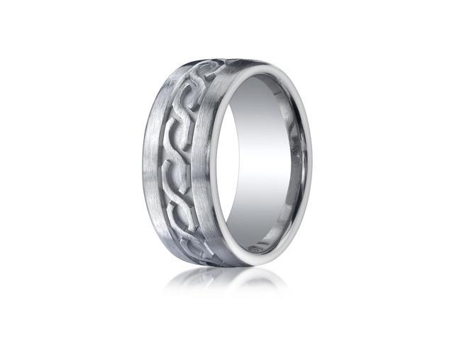 Argentium Silver 10Mm Comfort Fit Celtic Knot Design Wedding Ring Band Newegg
