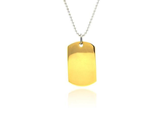 stainless steel gold plated dogtag (Chain Not Included)