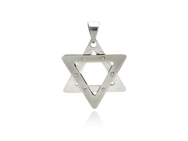 Star of david stainless steel pendant