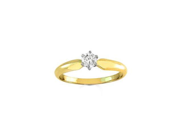 18k Yellow Gold Round Diamond Solitaire Engagement Ring (0.25 ct)