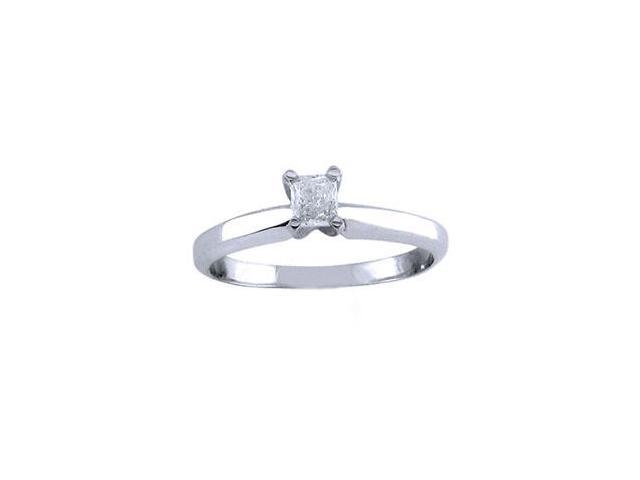 18k White Gold Princess Diamond Solitaire Engagement Ring (0.25 ct)