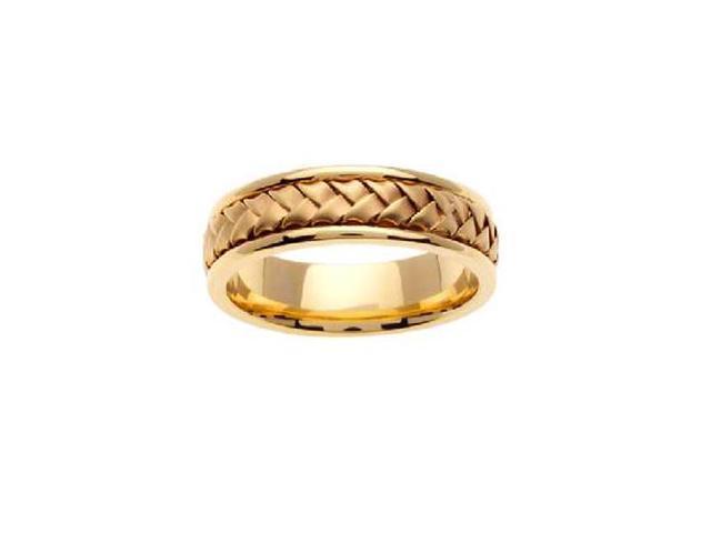 MenS 14K Yellow Gold Braided Hand Woven Wedding Band