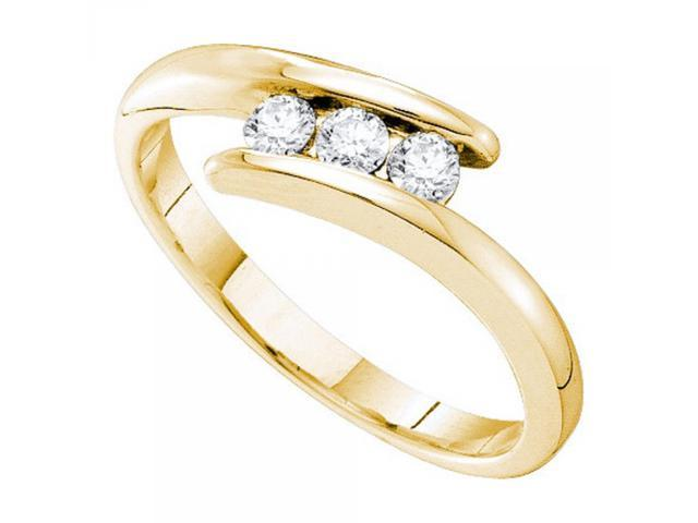 14k yellow gold 0 25ctw promise ring newegg