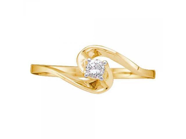 14k yellow gold 0 10ctw promise ring newegg