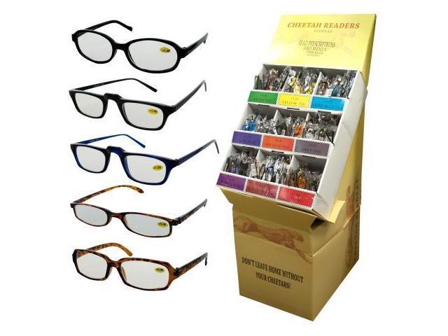 fashionable reading glasses display set of 360 vision