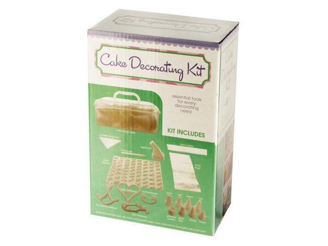 Cake Decorating Kit With Caddy Set Of 6 Kitchen Dining Baking Supplies Wholesale