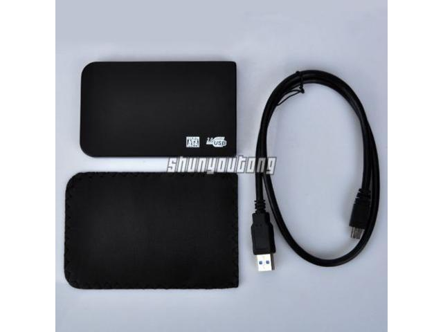 "Black 2.5"" SATA USB 3.0 HDD Hard Drive Disk External Enclosure Case Box"