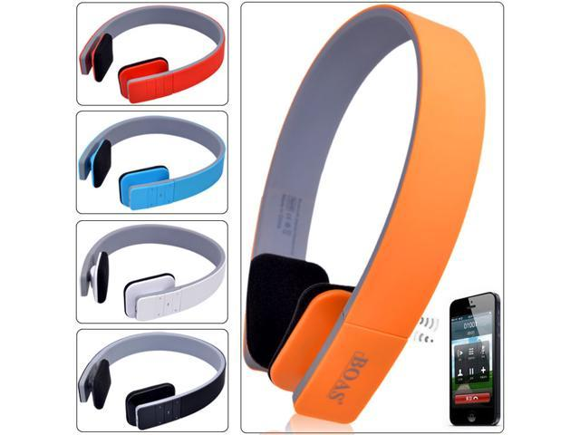 Wireless Bluetooth Stereo Headphone Earphone Headset Mic for Laptop Phones PS3 Red