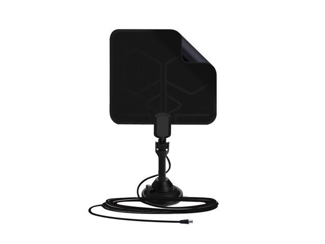 "1Byone 0.02"" Thin Digital Indoor TV HDTV Antenna with Soft Design, Passsive Antenna with Stand"
