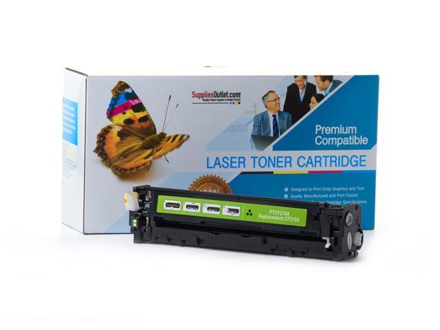 Supplies Outlet HP CF210A Black Laser Toner Cartridge, (HP 131A) Compatible