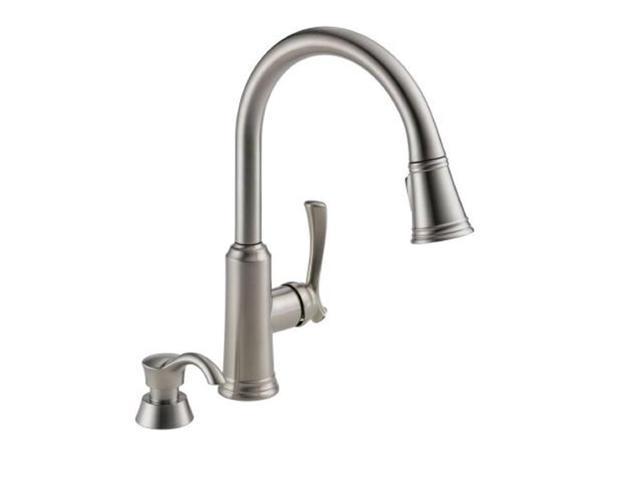Delta Lakeview 19963 Sssd Dst Single Handle Kitchen Faucet