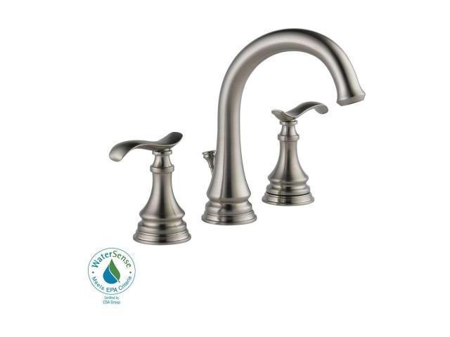Delta Kinley 35730lf Ss 2 Handle Bathroom Faucet In Brushed Nickel