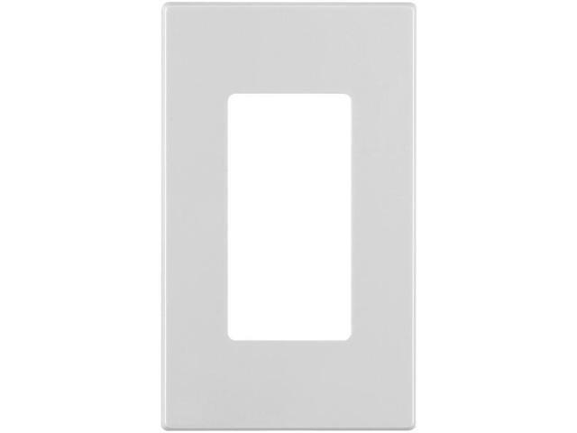 LEVITON 80301-SW 1-Port Decora(R) Plus Screwless Wall Plate (White)