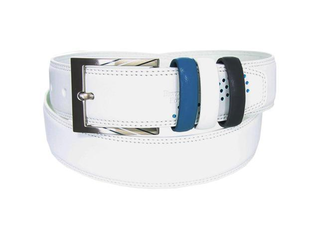 Beverly Hills Polo Club Dot Graphic Nappa Leather Belt