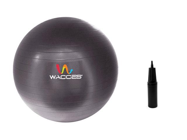 Wacces 75cm Black Fitness & Yoga Ball + Air Pump