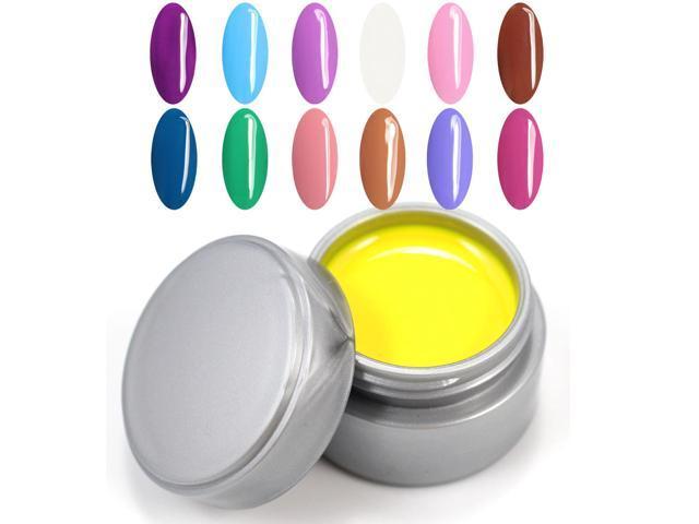 2014 New UV Color Gel Polish 5ml 12pcs/lot 12 colors Nail Art Products