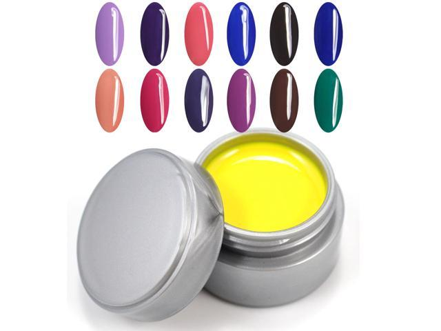2014 New UV Color Gel Polish 5ml 12pcs/lot 12 colors Nail Art Products