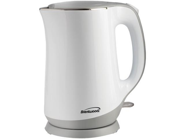 Brentwood Appliances KT-2017W 1.7 L Cool Touch Kettle with Wide Mouth Opening, White