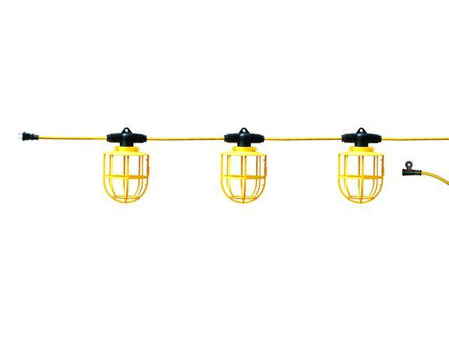 100 Ft Temporary Light String, Non-Linkable Construction Work Lighting TLS-100J2 - Newegg.com