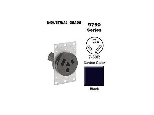 Leviton Straight Blade Receptacle Power Outlet NEMA 7-50R 50A 277V ...